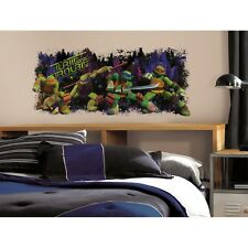 Teenage Mutant Ninja Turtles TURTLE TROUBLE WALL DECAL New BiG Mural Stickers