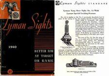 Lyman 1940 Gun Sights No. 27 Catalog