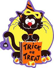 sticker decal car bike halloween spooky kid horror trick treat cat funny