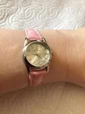 BRAND NEW CHARLES RAYMOND PINK FAUX CROC-DESIGN WATCH- MAKES A GREAT GIFT !!!