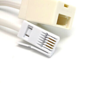 7m RJ11 BT Broadband ADSL Telephone Extension Cable Lead Phone Fax Modem Socket