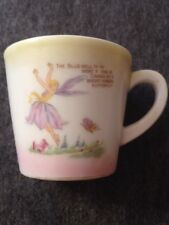 Antique Vintage Porcelain Fairy Cup with Butterfly Poem Art Deco made in Japan