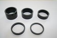 """Carbon Spacer Set Distanzringe 5-teilig 1-1/8"""" schwarz Neu"""