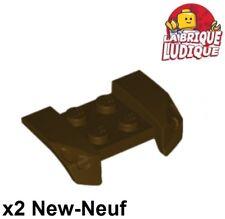 Lego 2x vehicle mudguard garde boue 2x4 Headlights marron f/dark brown 44674 NEW
