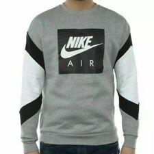 NWT MENS Nike Air Long Sleeve Pullover Crew Neck Gray Black White CD9220-063 XL
