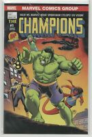 Champions #1 Dynamic Forces Variant (Marvel, 2016) Hulk / Spider-Man - DF