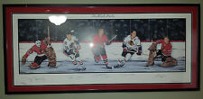Chicago Black Hawks Limited Edition Lithograph Autographed by 5 HOFers  319/1000