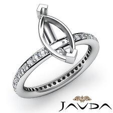 14k White Gold Marquise Semi Mount Diamond Engagement Classic Womens Ring 0.45Ct