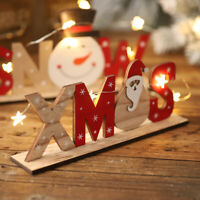 Christmas Decorations Wooden Letters Desktop Ornaments Simple Table Decor Sign