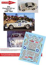 """DÉCALS 1/43 ref 544 Porsche 911 SC Waldergard  """"Boss"""" Monte Carlo 1983"""