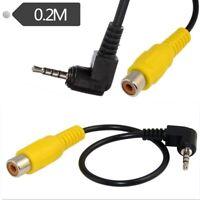 2Pcs 2.5Mm Cable D'Adaptateur Stereo Male Vers Rca Femelle Pour Voiture Dvr H1F8