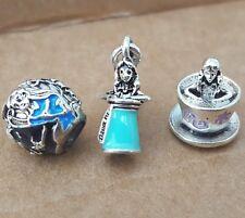 Disney Alice Wonderland Potion Rabbit Hatter Tea Cup Party European Beads Charms