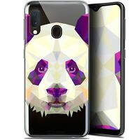 "Coque Gel Pour Samsung Galaxy A20E (5.8"") Extra Fine Polygon Animals - Panda"