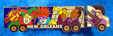 NEW ORLEANS KEEP ON TRUCKIN SEMI-TRAILER MARDI GRAS JAZZ Hard Rock Cafe PIN
