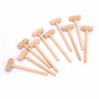 10 pièces mini boules de marteau en bois jouet marteau de rechange marteau enMFU