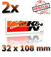 2x K&N 32x108mm Schwarz Sticker Aufkleber Decals KN K und N KN