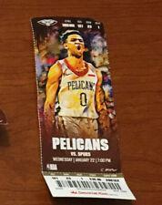 Zion Williamson NBA Debut Ticket Stub good New Orleans Pelicans 1/22 Season
