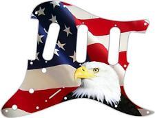 Stratocaster Strat Custom Fender SSS 11 Hole Guitar Pick Guard US Patriot Eagle