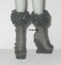 Monster High Picture Day Abbey Bominable Doll Outfit Black Shoes/Boots ONLY NEW