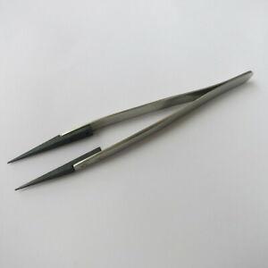Steel Tweezer with Pointed Plastic Tip for Watch Repair F91595