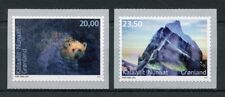 More details for greenland 2018 mnh environment ii polar bears 2v s/a set wild animals stamps