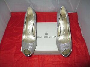 Bandolino Rainaa Women's Peep-Toe Pumps $59 Gold - US Size 10 M