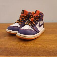 Kid's Nike Jordan 1 Retro High Purple/White/Orange 705304-507 Toddler Sz 6C