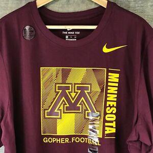 NWT | Nike Dri-Fit Minnesota Gopher Football T-Shirt | Size 2XL