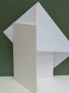 "20 x 7"" x 5"" Single fold Watercolour Cards High White With Envelopes CL005"