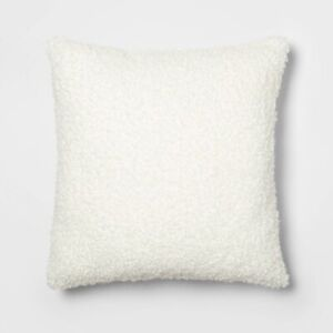 "THRESHOLD Euro Boucle Decorative Throw Pillow | 24"" x 24"" 