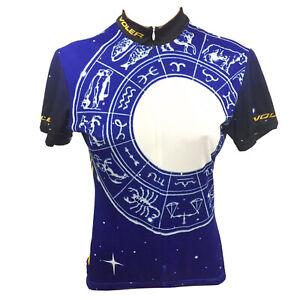 VOLER Women's Cycling Jersey Horoscope Zodiac Wheel 3/4 Zip S Small Made in USA
