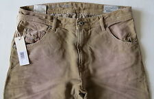 Diesel Men Jeans 31 W x 32 Tan Krayver Regular Slim Carrot 818V New with Tags