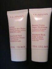 Clarins Hand and Nail Treatment 30 ml & Moisture Body Lotion 30 ml - New Travel