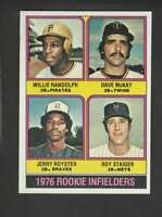 1976 Topps #592 Willie Randolph/Dave McKay/Jerry Royster/Roy Staiger  ID: 137640
