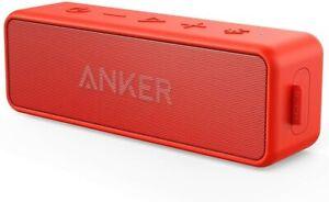 Anker Soundcore 2 Bluetooth Lautsprecher rot, wasserfest, Party Speaker A3105091