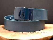 Nixon Mens Rubber Belt Blue Size One Size