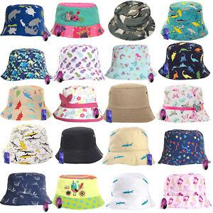 Children Baby Summer Bucket Bush Hat Cap Sun Protection Boy Girl Kids Patterned