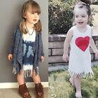 Toddler Girl Kids Baby Sleeveless Princess Party 100% Cotton Dress Skirt Clothes