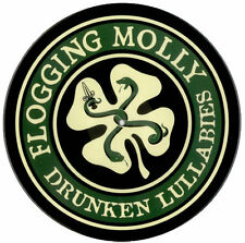 Flogging Molly vinyl sticker 90mm circular Pogues Dropkick Murphys celt punk