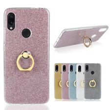 For Xiaomi Mi 9 Redmi 7A Nokia 4.2 Soft TPU Bling Glitter Finger Ring Case Cover