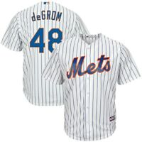 Jacob Degrom NY Mets Majestic Cool Base Home Jersey FREE POSTAGE 8 VINTAGE CARDS
