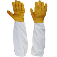 50cm Protective Beekeeping Bee Keeping Vented Long Sleeves Gloves Goat skin M&O