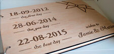 set of three personalised items (A4 guest book, puzzle jingsaw, cake topper)