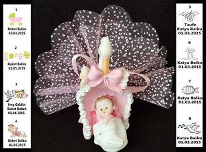 10X bebek sekeri Battesimo mevlid mevlüd Matrimono Gastgeschenke Taufe Storch