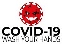 STOP COVID Virus WASH HAND STICKERS Signs offices and businesses DECALS 19