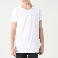 T-shirt Uomo Basic Bianco 100% Cotone Tinta Unita Manica Corta Girocollo SARANI