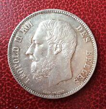 Belgique - Léopold II  - Superbe monnaie  de 5 Francs  1870  en Argent
