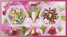 Orchid Flower Cypripedium Laeliocattleya Souvenir Sheet of 2 Stamps Mint NH