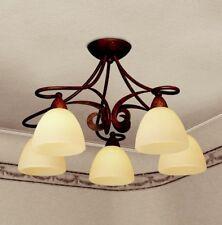 Plafoniera classica 5 luci colore ruggine antica coll. Dese 1730/PL5