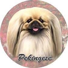 ES Pets Absorbent Stoneware Car Cup Holder Coaster, Pekingese